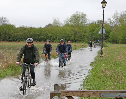 water-cyclists